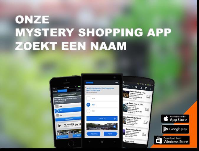 Mystery Shopper app zoekt naam